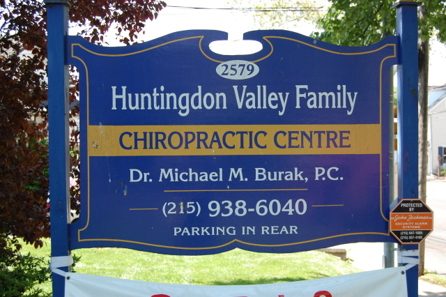 Huntington Valley Chiropractic Center Sign