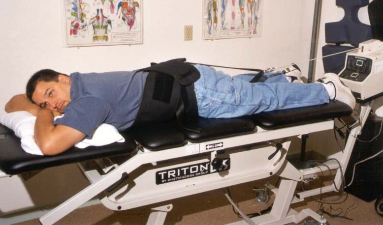 man on decompression table